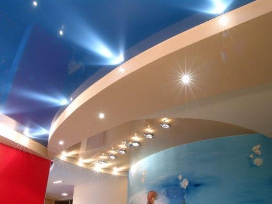 Как сделать подсветку двухуровневого потолка